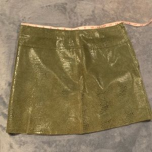 BEBE Faux Snake skin mini skirt